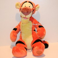 """Licensed cool 14"""" Tigger Tiger Plush Winnie-the-POOH Disney Store Authentic Patch New w/ Tags"""