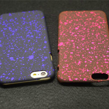 "Bling Frosted Starry Sky Glitter Star Hard Case for iPhone 6 4.7"" 6 Plus"