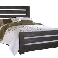 Willow Casual King Slat Complete Bed Distressed Black