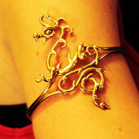 Bronze Dragon  Upper Armband by BronzeSmith on Etsy