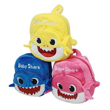 Kids Baby Shark Backpack Plush Cute Cartoon Bag For Children Kids School Gifts