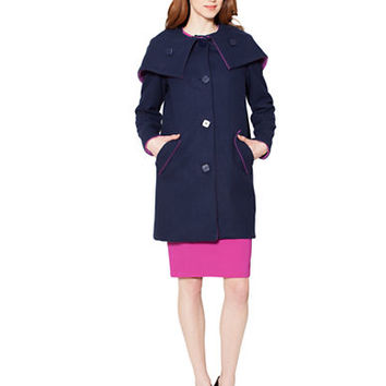 Raoul Wool Blend Hooded Cocoon Coat