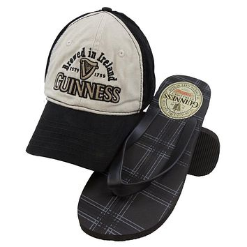 Guinness - Clover Logo Adjustable Cap & Flip-Flops Combo Set