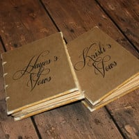 Wedding Vow Book, His and Hers, Woodland Wedding Decor, Vow books,  Wedding vows, Gift for Engagement Party, Bride to be Gift