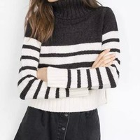 Winter Women's Fashion Stripes Sweater [6512980487]