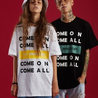 Come On Come All Tee | Black/White