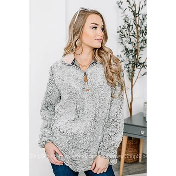 Simply Southern Sherpa Pullover | Heather Grey