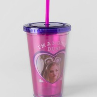 Pink and Purple I'm A Mouse Duh Travel Cup
