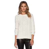 White Knit Long Sleeve Sweater