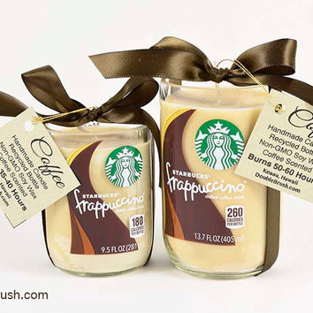 Large and Small Frappuccino Coffee Candles Set