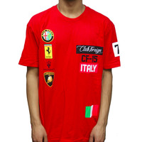 Club Foreign Italy Tee Shirt in Red