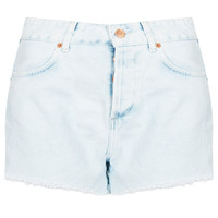 MOTO White High Waist Hotpants - Shorts - Clothing - Topshop