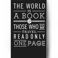 The world is a book those who do not travel read only one page - iPhone 5 / 5s - hard snap on plastic case - Inspirational and motivational life quotes