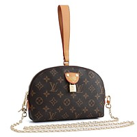LV Louis Vuitton Letter Print Clutch Bag Cosmetic Bag Shoulder Bag Messenger Bag
