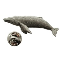 Humpback Whale Pin ~ Antiqued Pewter ~ Lapel Pin