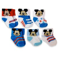 6-Pack Mickey Mouse Socks in Assorted Designs