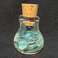 Small Glass Silver Fumed Color Changing Stash Jar with Cork