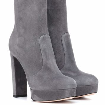 Brook plateau suede ankle boots