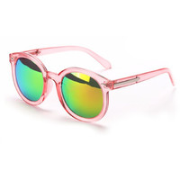 Sophia Pastel Pink Mirrored Sunglasses