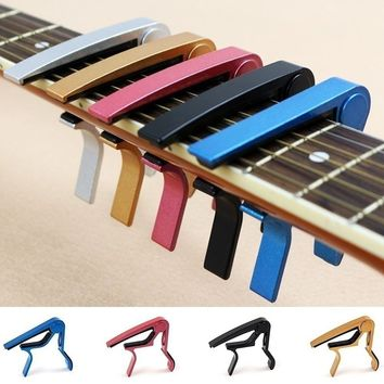 2018 HOT SALE Guitar Capo Clamp for Electric & Acoustic Ukulele Guitar Quick Trigger Release
