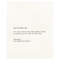 Dear Birthday Boy Card