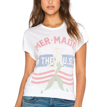 The Laundry Room Mermade In The USA Rolling Tee in White