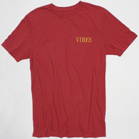 VIBES Embroidered Red Tee by Altru Apparel