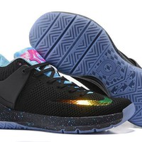 spbest Nike Zoom KD 5 Durant Knitting Basketball Shoes Black Blue 40-46