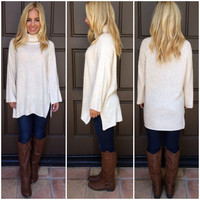 Snuggle Up Turtle Neck Sweater - OATMEAL