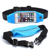 "Gym Waist Belt Pouch Universal For 5.2"" 5.5"" 4.7 inch Sport Waterproof Running Phone Bag Case For Meizu m3s Xiaomi Redmi 3s"