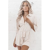 Call Me The Boss Cream Romper