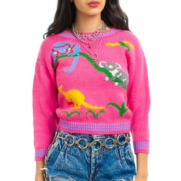 Vintage 90's Li'l Creatures Bright Sweater - XS/S