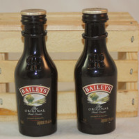 Baileys Salt and Pepper Shaker, Upcycled Liquor Bottles, Mini Liquor Bottle Salt and Pepper Shakers