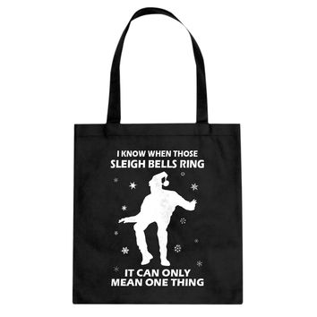 Tote When Those Sleigh Bells Ring Canvas Tote Bag