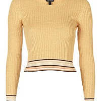 Long Sleeve Ribbed Crop Top - Topshop