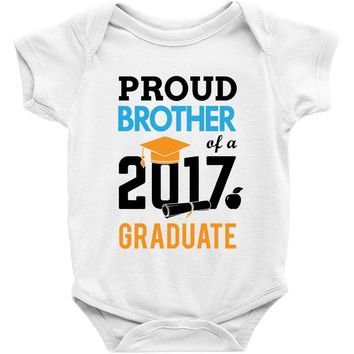 Class of 2017 Proud Brother Graduation Baby Onesuit