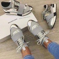 Balenciaga Fashion Race Runners Women Men Casual Shoes