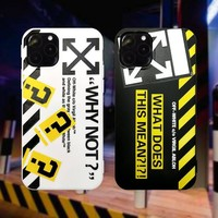 NEW IPHONE 11 OFF X WHITE PROTECTIVE IPHONE CASE (Various Models)