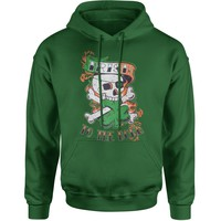 Irish To The Bone Adult Hoodie Sweatshirt