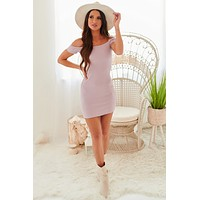 String You Along Smocked Bodycon Dress (Lavender)
