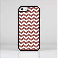 The Maroon & White Chevron Pattern Skin-Sert Case for the Apple iPhone 5/5s