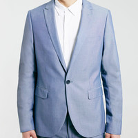 BLUE LIGHT WEIGHT SKINNY SUIT JACKET - New This Week - New In - TOPMAN USA
