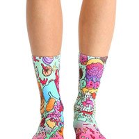 Donut Make Me Crazy Crew Socks