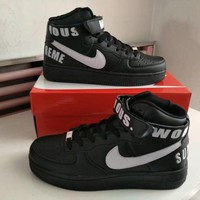 Nike Air Force 1 Unisex Sport Casual Letter High Help Plate Shoes Couple Fashion Sneakers