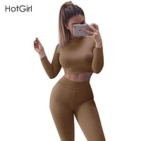 Sexy Jumpsuit Women Overalls Autumn Long Sleeve Turtleneck Rompers Night Club Wear Bodycon Bodysuit Women Two Piece Jumpsuits