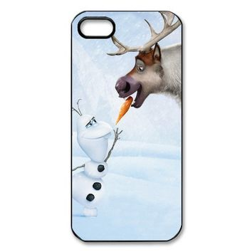 Disney Fanstic 3D Movie Frozen Case Custom Plastic Hard Durable Case for Iphone 5 and 5S