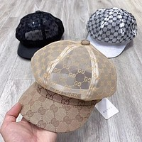 GG Men's and Women's Hollow Embroidered Letter Baseball Cap