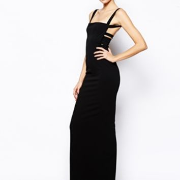 Solace London Crockett Maxi Dress with Low Back