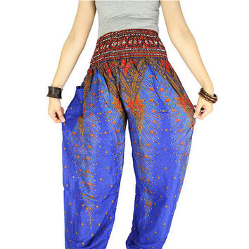 Peacock pants Gypsy pants  Harem pants Thai pants Hippie clothes Palazzo pants Hippie pants Elephant pants Elephant clothes