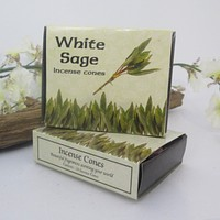 White Sage Cone Incense